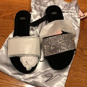 Victoria's Secret Rhinestone Slippers NEW WITH TAG